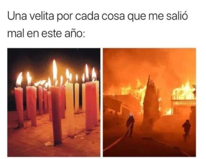 Una vela por cada cosa que salio mal