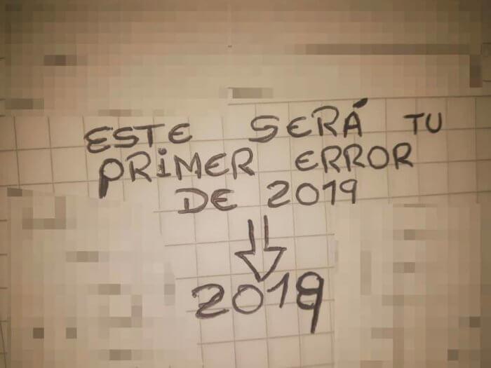 Este sera nuestro primero error del 2019
