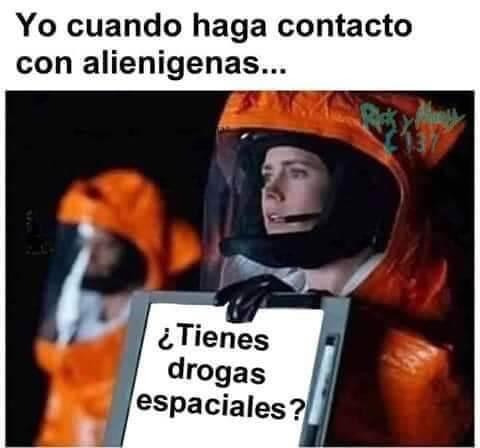 Cuando haga contacto con aliens