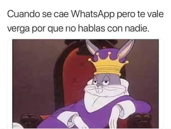 Cuando se cae Whatsapp