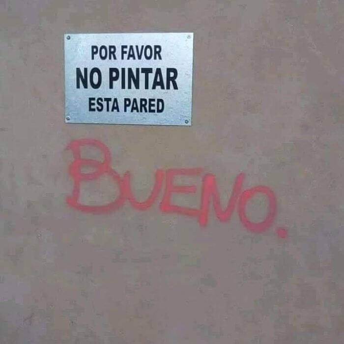 Favor no pintar la pared