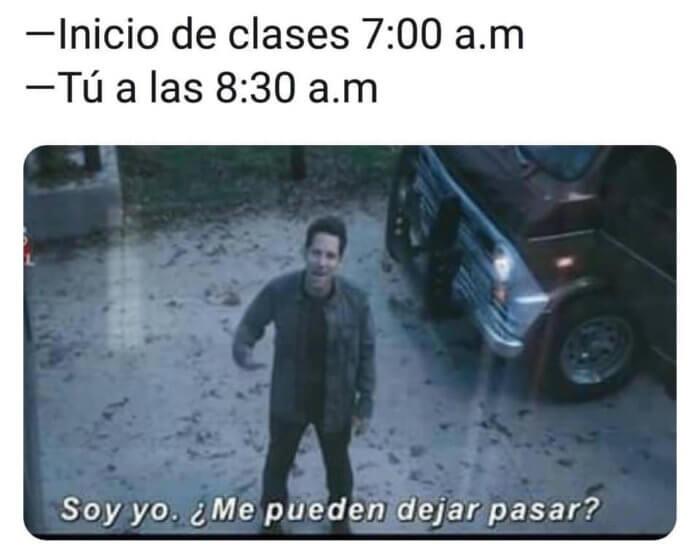 Las clases iniian a las 7