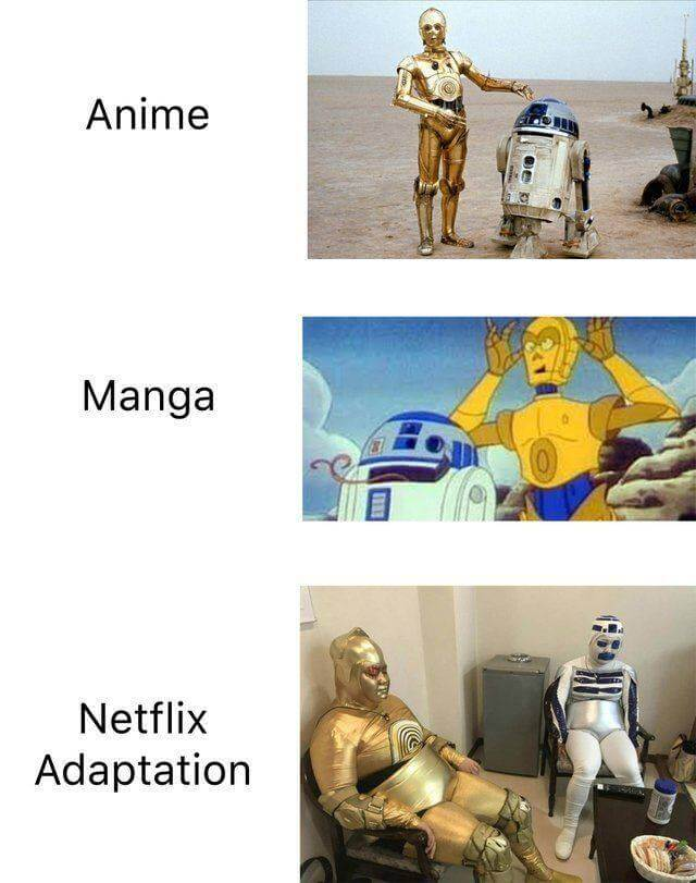 Anime vs manga vs netflix