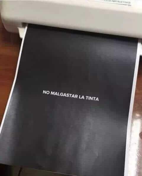 No malgastar la tinta