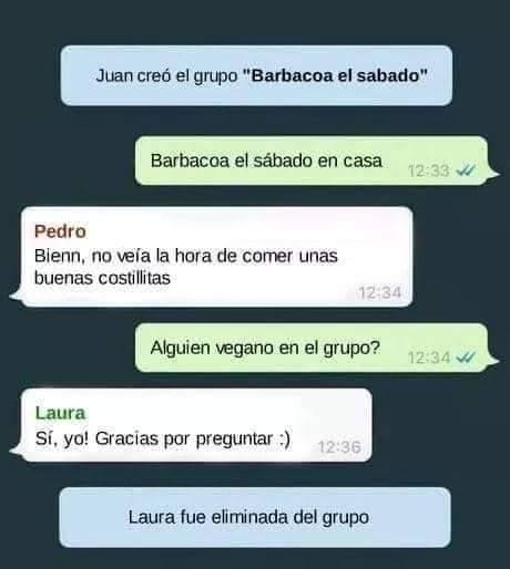 Veganos en barbacoas
