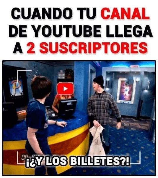 Cuando tu canal de Youtube tiene 2 subscriptores