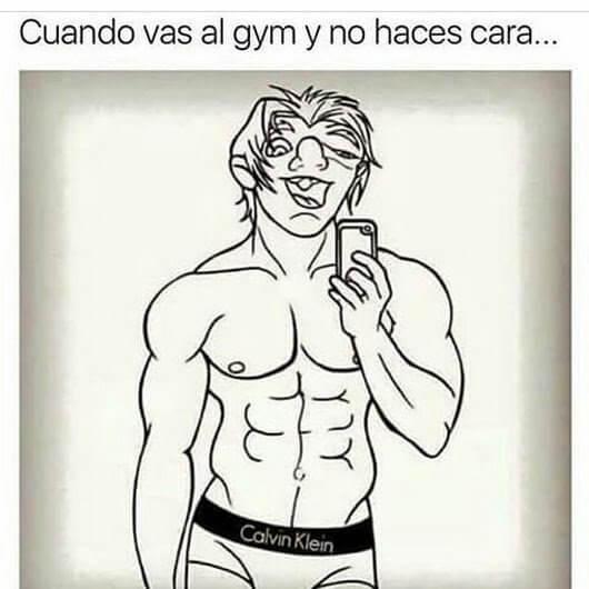 Cuando vas al gym