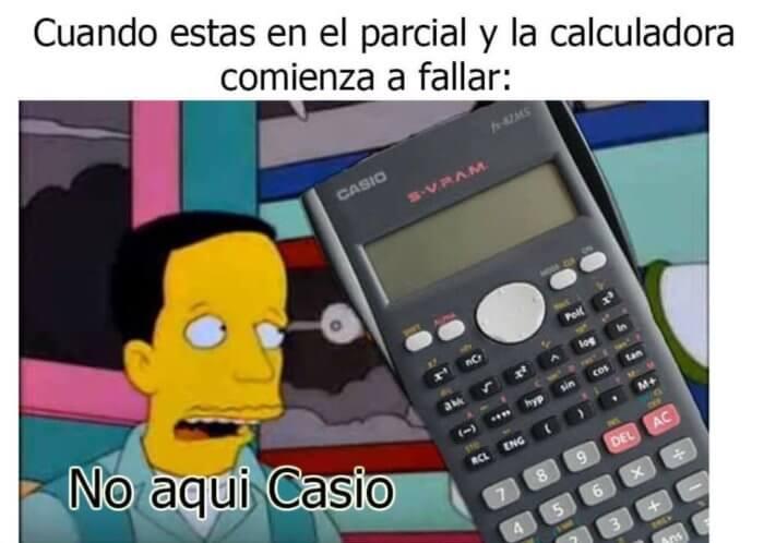 Cuando la calculadora comienza a fallar