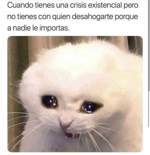 Cuando tienes una crisis existencial