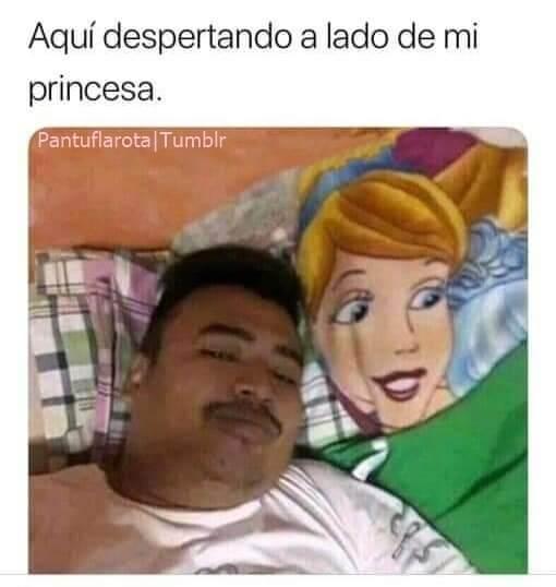 Despertando con mi princesa