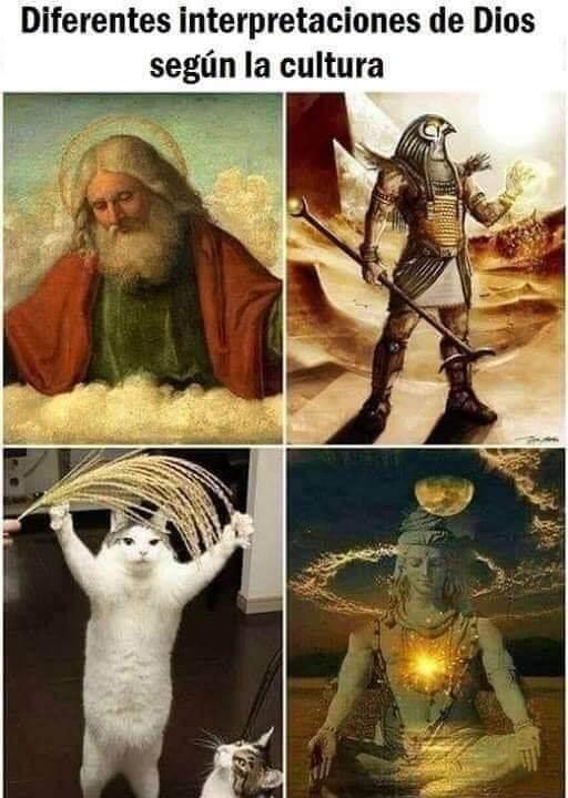 Diferentes interpretaciones de Dios