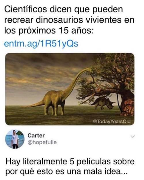 Recreando a los dinosaurios