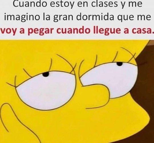 Cuando estoy en clases