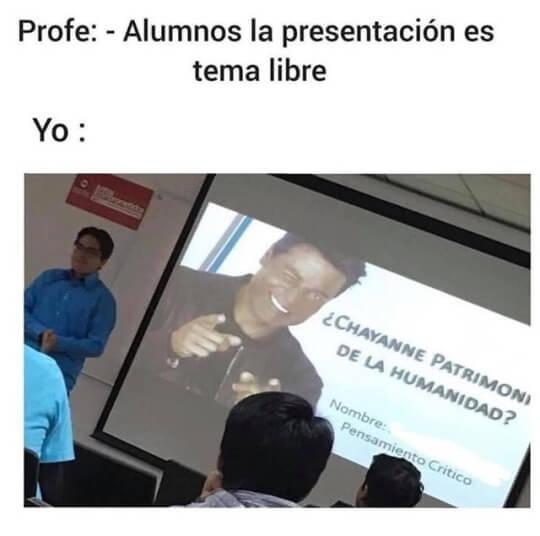 La presentacion es tema libre