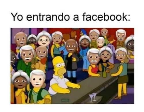 Entrando a facebook