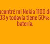 Un Nokia 1100 en la actualidad
