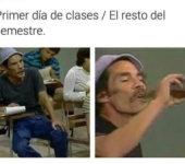 Primer día de clases vs el resto del año