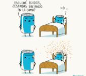 Saltando en la cama