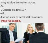 Rápido en las matemáticas