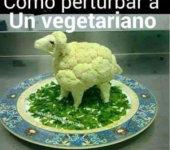 Como perturbar a un vegetariano