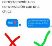 Como iniciar correctamente una conversación con una chica