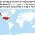 Países en donde piensan que la solución a las armas son las armas