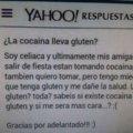 ¿La cocaína lleva gluten?