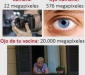 Cámara vs ojo humano