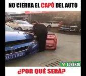 No cierra el capo del auto