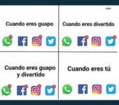 Redes sociales según como eres