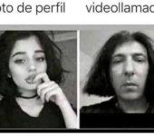 Foto de perfil vs video llamada