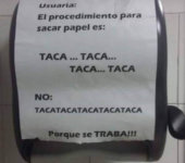 El procedimiento para sacar papel