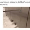 Cuando el seguro del baño no funciona