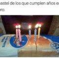 El pastel de los cumpleaños