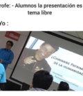 La presentación es tema libre