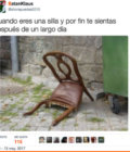 Cuando eres una silla
